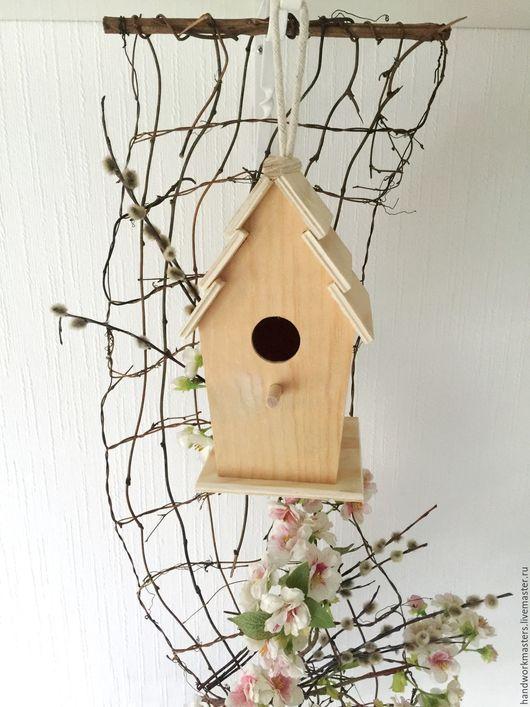 Заготовка для декупажа и росписи. Домик для птиц. Скворечник. Заготовка из дерева.