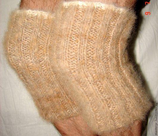 Наколенники из собачьей шерсти арт №98н . Наколенник для лечения и профилактики суставных болезней . Ручное прядение. Ручное вязание.
