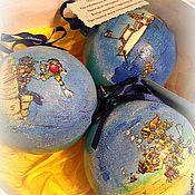 """Подарки к праздникам ручной работы. Ярмарка Мастеров - ручная работа Елочные игрушки """"Дайверу"""". Handmade."""