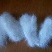 Аксессуары ручной работы. Ярмарка Мастеров - ручная работа Варежки из пуха кролика детские белые. Handmade.