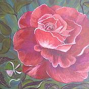 Картины и панно ручной работы. Ярмарка Мастеров - ручная работа Алая роза. Handmade.
