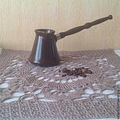 Для дома и интерьера ручной работы. Ярмарка Мастеров - ручная работа Квадратная салфетка крючком Утренний кофе. Handmade.