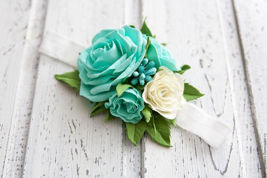 Повязки ручной работы. Ярмарка Мастеров - ручная работа. Купить Повязка с розами. Handmade. Цветы, повязка на голову, повязка с цветком