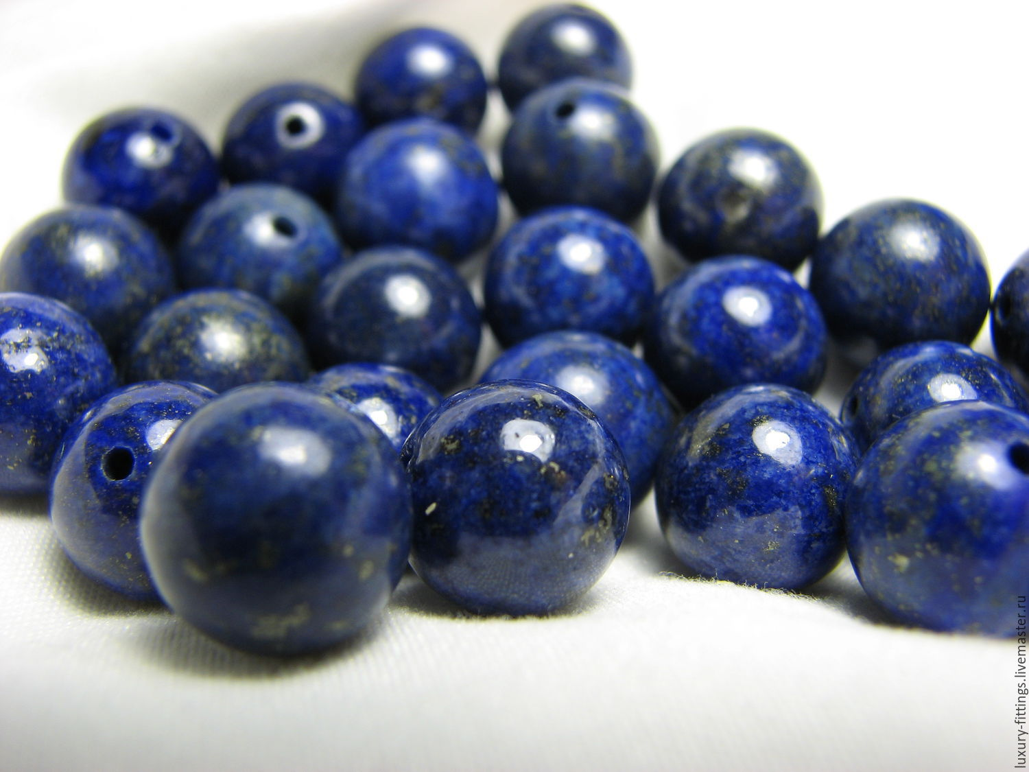 Lapis lazuli with pyrite smooth ball, natural, beads, 10 mm, Beads1, Moscow,  Фото №1