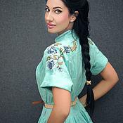 Одежда handmade. Livemaster - original item Dress in boho style with hand embroidery