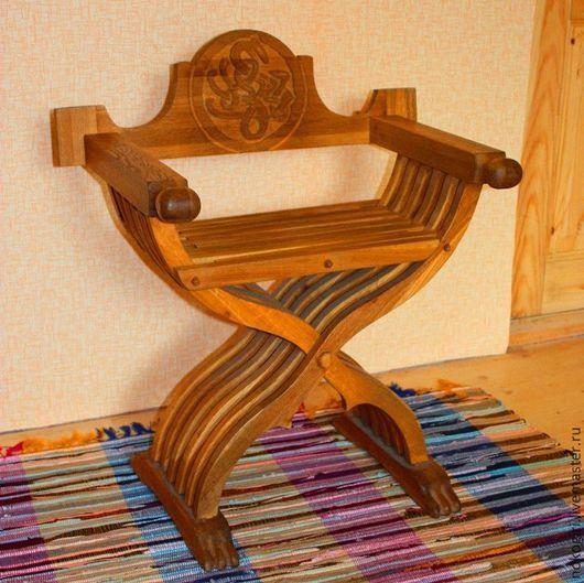 Мебель ручной работы. Ярмарка Мастеров - ручная работа. Купить Средневековое кресло Савонарола. Handmade. Коричневый, деревянное кресло