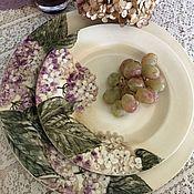 Посуда handmade. Livemaster - original item Painted porcelain tea Set Hydrangea suburbs. Handmade.