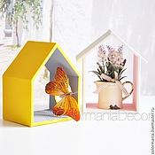 Для дома и интерьера ручной работы. Ярмарка Мастеров - ручная работа Полка -домик. Handmade.