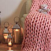 """Для дома и интерьера ручной работы. Ярмарка Мастеров - ручная работа Плед """"Dollywool"""" нежно-розовый. Handmade."""