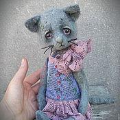 Куклы и игрушки ручной работы. Ярмарка Мастеров - ручная работа Муся  котенок тедди котик тедди. Handmade.