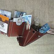 Wallets handmade. Livemaster - original item S-Fold! Compact wallet. RFID-Protection. Personalized wallet. Handmade.