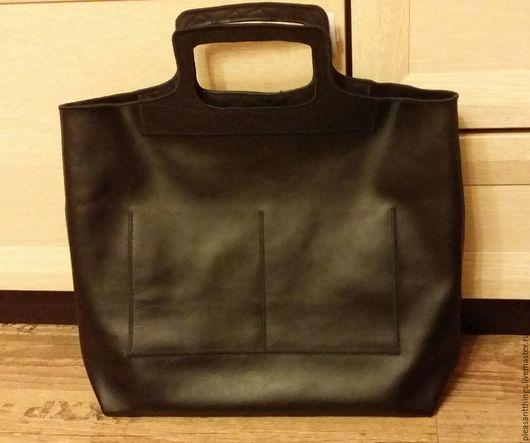 Мужские сумки ручной работы. Ярмарка Мастеров - ручная работа. Купить Бизнес пакет. Handmade. Черный, авоська, подарок