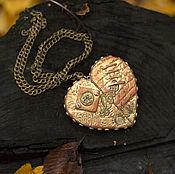 """Украшения ручной работы. Ярмарка Мастеров - ручная работа Кулон """"Золотое сердце"""". Handmade."""