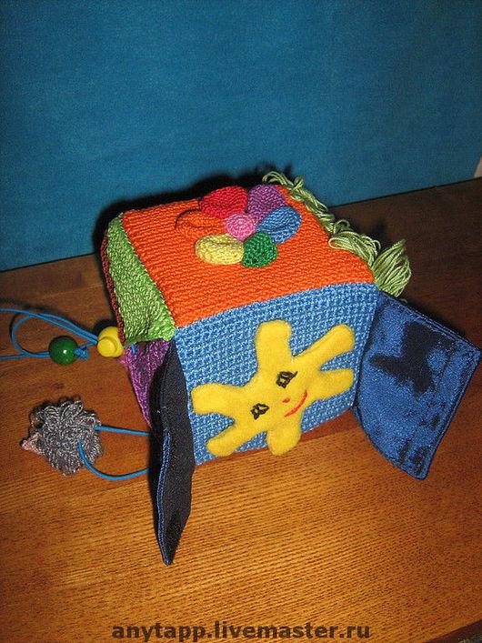 """Развивающие игрушки ручной работы. Ярмарка Мастеров - ручная работа. Купить Развивающий кубик """"Солнышко"""". Handmade. Развивающая игрушка, поролон"""