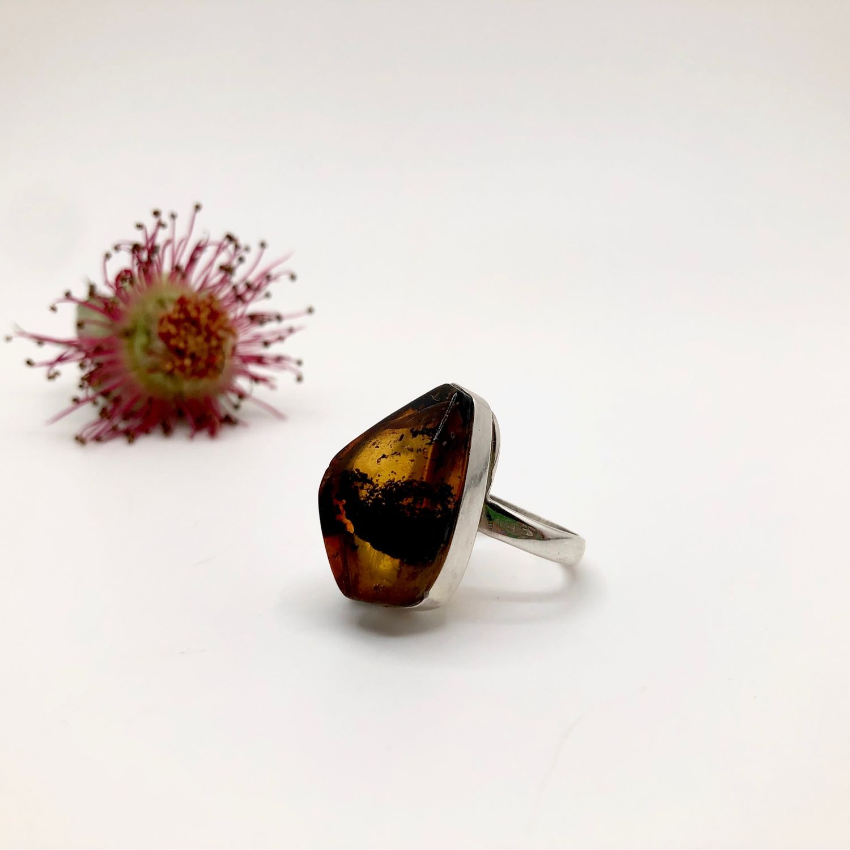 Кольцо с янтарём, Кольца, Феодосия,  Фото №1