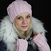 Аксессуары handmade. Livemaster - original item beanie and mitts