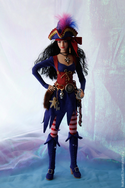 Коллекционные куклы ручной работы. Кукла Ведьма -пиратка. Лариса Исаева. Ярмарка Мастеров. Волшебница, текстиль