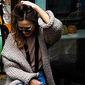 Одежда handmade. Livemaster - original item Warm women`s cardigan Merino wool and Alpaca. Handmade.
