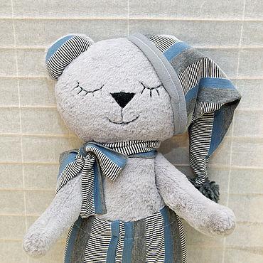 Куклы и игрушки ручной работы. Ярмарка Мастеров - ручная работа Спящий мишка - игрушка  для сна. Handmade.