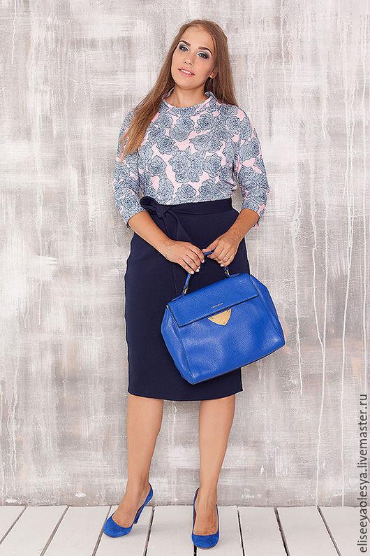 Платья ручной работы. Ярмарка Мастеров - ручная работа. Купить Нарядное платье 27008-1. Handmade. Синий, трикотажное платье
