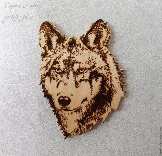 Магниты ручной работы. Ярмарка Мастеров - ручная работа. Купить Волк символ удачи. Handmade. Золотой, магнит на холодильник, интерьер
