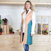 Одежда handmade. Livemaster - original item Chasuble felted wool Golden wisdom. Handmade.