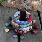 Украшения ручной работы. Ярмарка Мастеров - ручная работа Звук цвета текстильный браслет. Handmade.