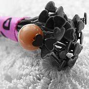 Материалы для творчества handmade. Livemaster - original item Pins black art. 4-21A Hearts. Handmade.