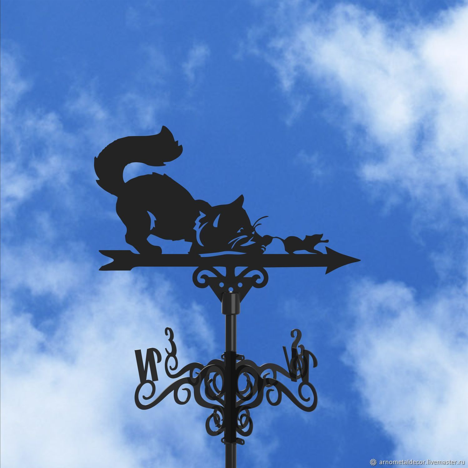 Weather vane on the roof ' Cat and Mouse ', Vane, Ivanovo,  Фото №1