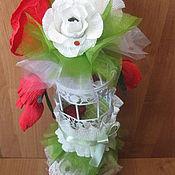 """Подарки к праздникам ручной работы. Ярмарка Мастеров - ручная работа Букет из конфет """" Сладкий плен"""" подарок на день святого валентина. Handmade."""