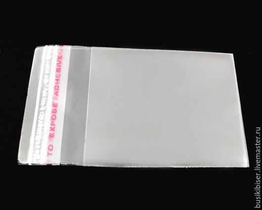 Пакетик с клеевым клапаном 4.5х4см прозрачный