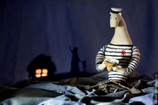 Игрушки животные, ручной работы. Ярмарка Мастеров - ручная работа. Купить Морской медведь. Handmade. Тёмно-синий, медведь, войлок