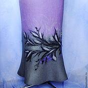 Одежда ручной работы. Ярмарка Мастеров - ручная работа валяная юбка ..Сиреневое наваждение(2). Handmade.