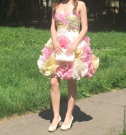 Одежда и аксессуары ручной работы. Ярмарка Мастеров - ручная работа. Купить Свадебное платье, Вечернее платье. Handmade. Бледно-розовый