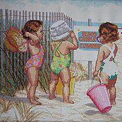 Для дома и интерьера ручной работы. Ярмарка Мастеров - ручная работа Дети на пляже. Handmade.