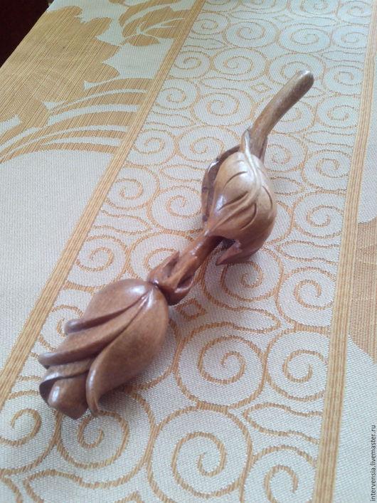Элементы интерьера ручной работы. Ярмарка Мастеров - ручная работа. Купить Роза. Handmade. Коричневый, резьба по дереву, сувениры и подарки