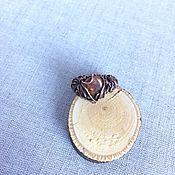 Украшения ручной работы. Ярмарка Мастеров - ручная работа Медное кольцо с коричневым турмалином. Handmade.
