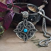 Украшения handmade. Livemaster - original item Amulet of Mara the Goddess of love. Skyrim.  TES. turquoise bronze silver.. Handmade.