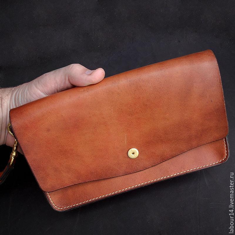 ed7550e2c8a4 Мужские сумки ручной работы. Ярмарка Мастеров - ручная работа. Купить Клатч  мужской кожаный мод ...
