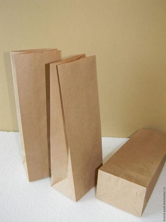 Упаковка ручной работы. Ярмарка Мастеров - ручная работа. Купить Крафт пакет, 24x9,0x6,5 см. Handmade. Коричневый