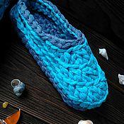 Обувь ручной работы. Ярмарка Мастеров - ручная работа Тапочки - сандали для дома из трикотажной пряжи.. Handmade.