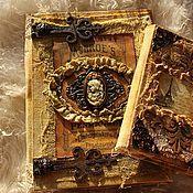 Канцелярские товары ручной работы. Ярмарка Мастеров - ручная работа Винтажный  фотоальбом с камеей. Handmade.