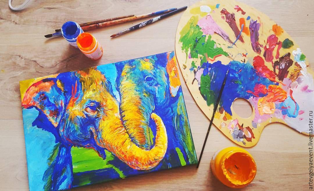 Картинки из красок своими руками