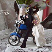 Свадебный салон handmade. Livemaster - original item The figures on wedding cake. Motosada. Handmade.