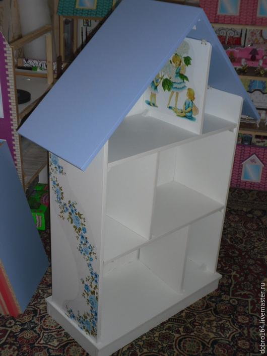 Кукольный дом ручной работы. Ярмарка Мастеров - ручная работа. Купить КУКОЛЬНЫЙ ДОМИК № 3. Handmade. Синий