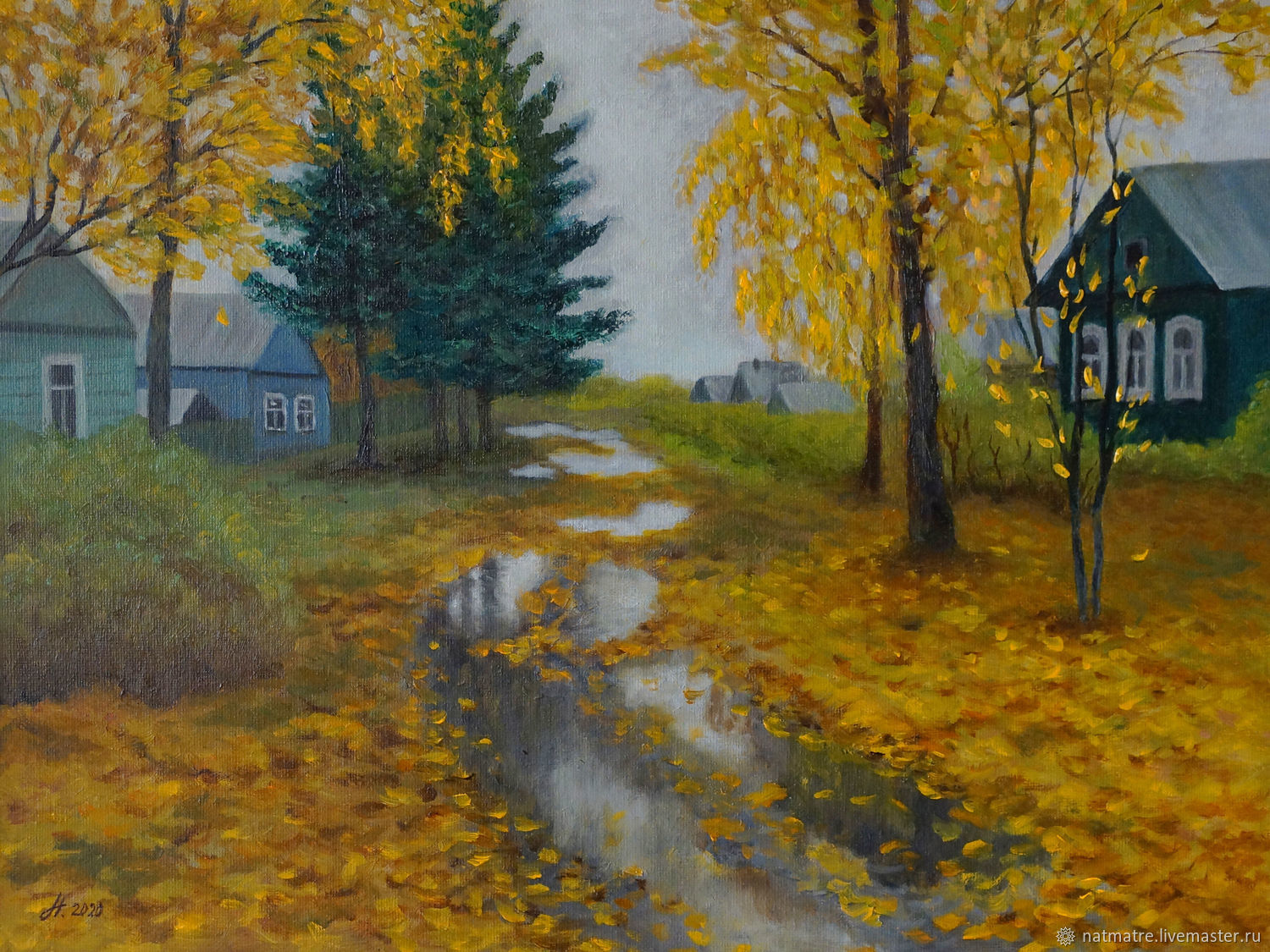 After the rain (oil painting), Pictures, Tyumen,  Фото №1