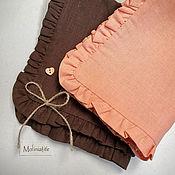 Для дома и интерьера handmade. Livemaster - original item Napkin: linen napkins Molinia color chocolate peach white. Handmade.