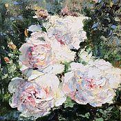 Картины и панно handmade. Livemaster - original item Oil painting Bright morning Rose impressionism. Handmade.