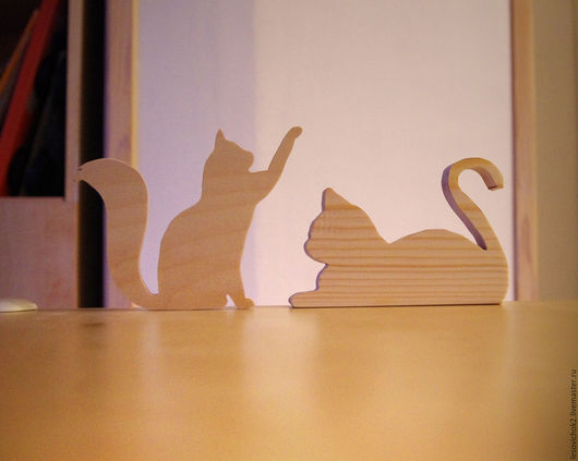 Декупаж и роспись ручной работы. Ярмарка Мастеров - ручная работа. Купить коты. Handmade. Коты, заготовки для творчества, заготовки из дерева