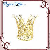 "Свадебный салон ручной работы. Ярмарка Мастеров - ручная работа корона ""Золотая Царица"". Handmade."
